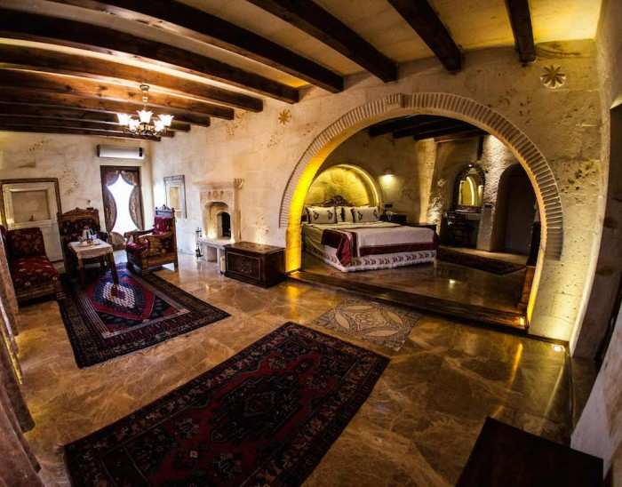 One of the unique rooms at Cappadocia Cave Hotel