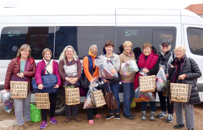 Previous travelers on Argentina Knitting tour with Cynthia Samake.