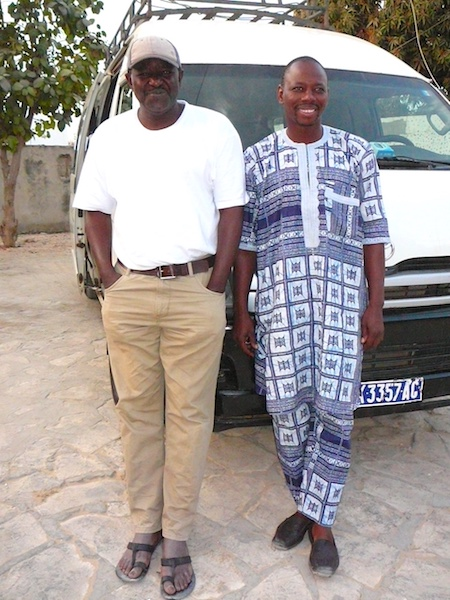 Barou Samake relaxing in Mali with Bambara friend.