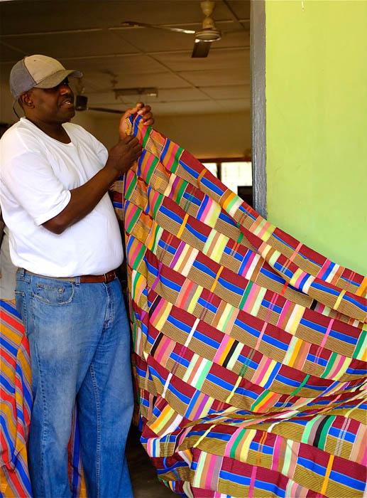 Barou with Ewe kente cloth.