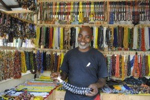 Bead vendor in a whole market of BEADS!