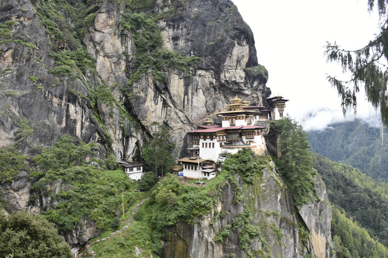Tiger's Nest Monastery perched on the cliff near Paro, Bhutan.