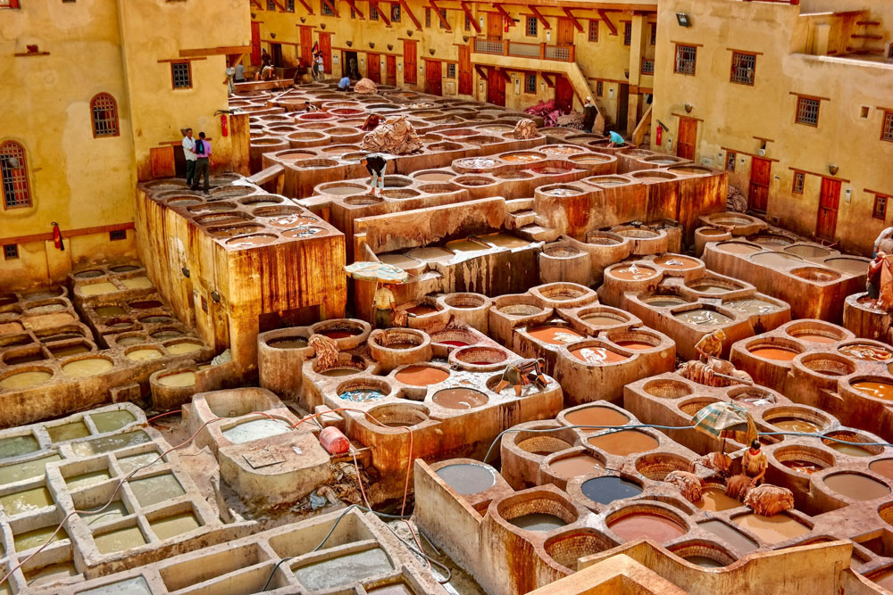 Leather tannery of Fes, Morocco