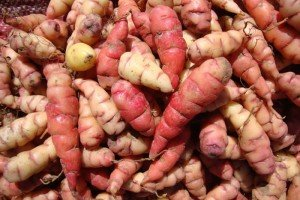 Oca, baked and eaten like potatoes.