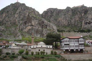 Small town of Amasya, Turkey.