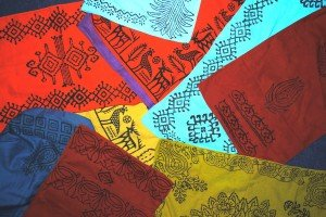 Hand-block printed scarves crated by 2011 group.
