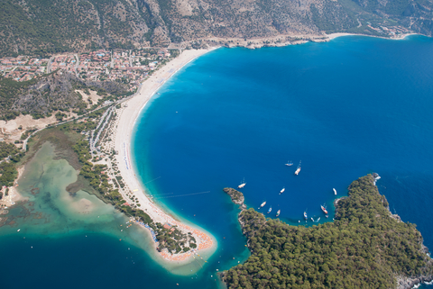 Harbor of Oludeniz, Turkish Mediterranean.
