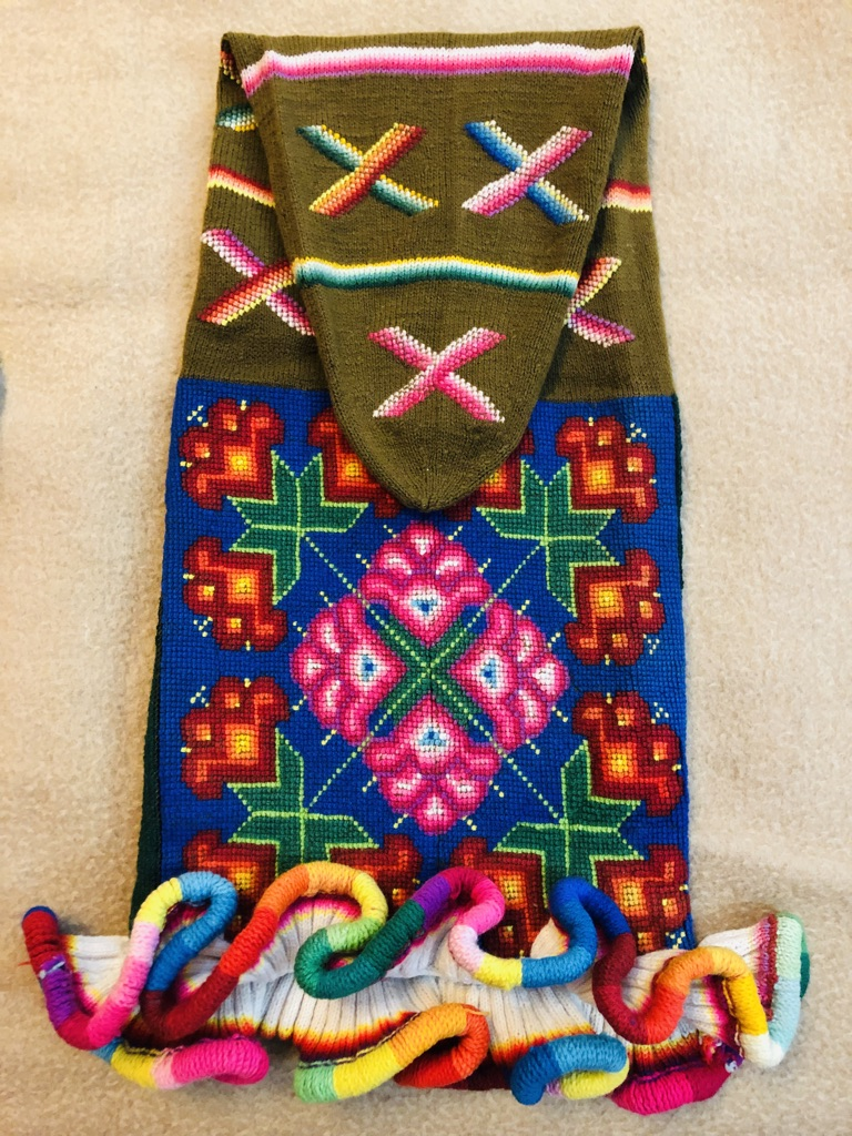 Colorful knitted hat from Peru.