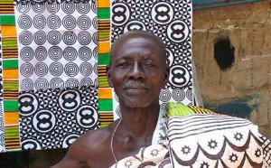 Man wears Adinkra cloth, Ghana