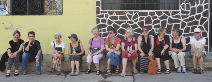 Waiting for the embroiderer to come back! Juchitan, Mexico