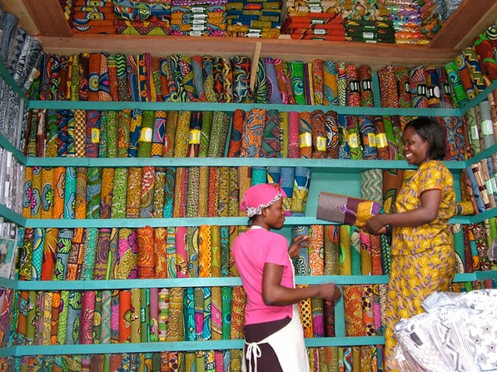 Ghana fabric Market