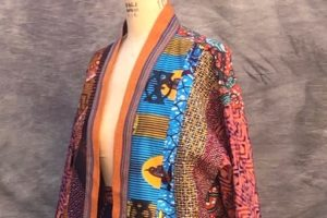 Example of fashion with fabrics from Ghana.