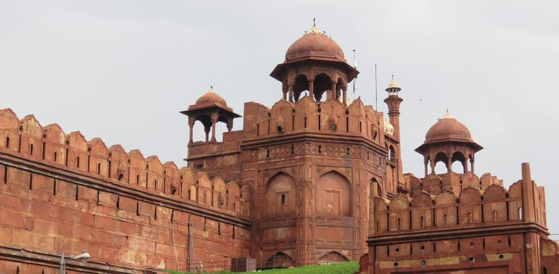 Red Fort, sandstone fort in New Delhi.
