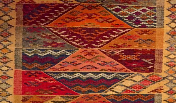 Sunset colors of a rug from Morocco.