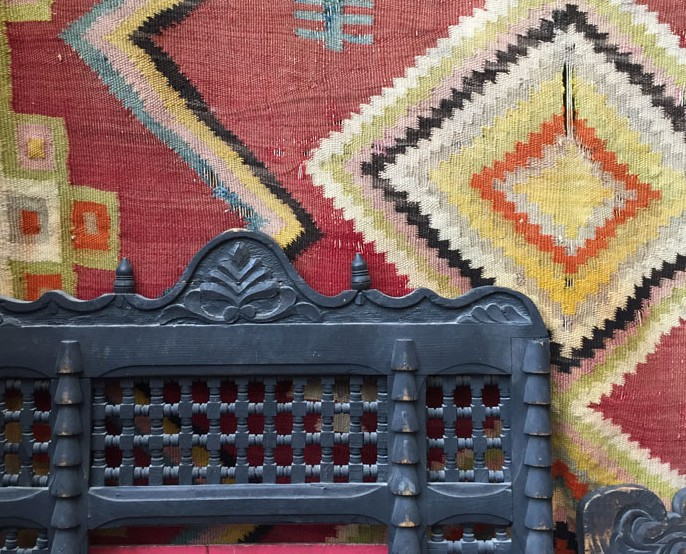 Handwoven tapestry technique Rug from Textiles of Morocco tour