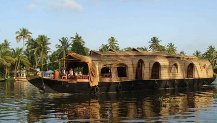 We relax on houseboats in the tropical lagoons.