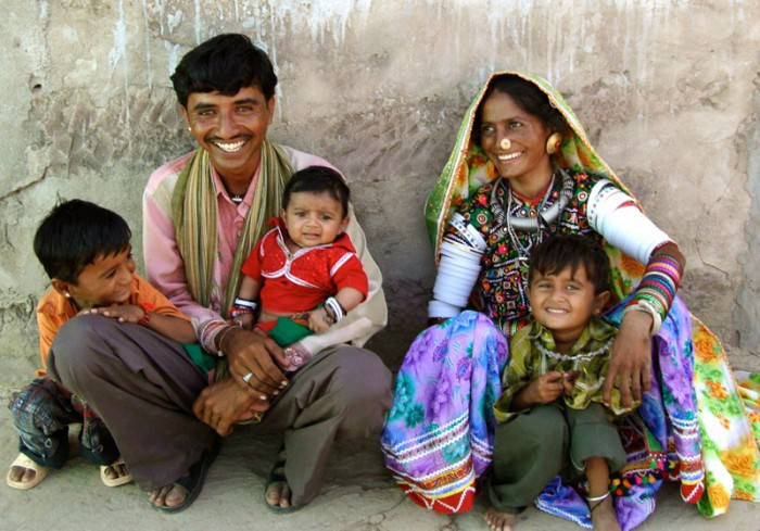 Family we met in Rajasthan on textiles of India tour.
