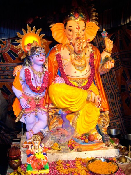 Indian Lord Ganesha elephant god of success and good fortune.