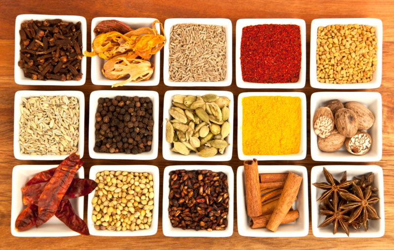 Variety of Spices from INDIA