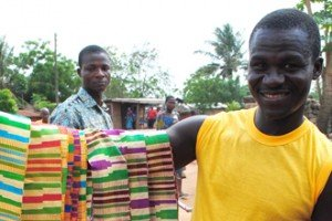 On the Ghana arts tour, we visit typical weaving villages.