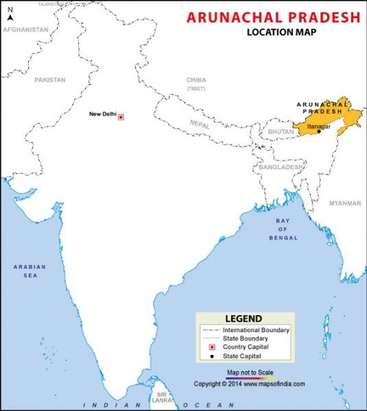MAP. arunachal-pradesh
