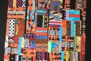 Quilt by Melanie Grishman. Fabrics from MALI.