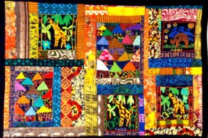 Example of Travelers' Art with African fabrics.