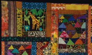 """""""Africa"""" Quilt by Melanie Grishman."""
