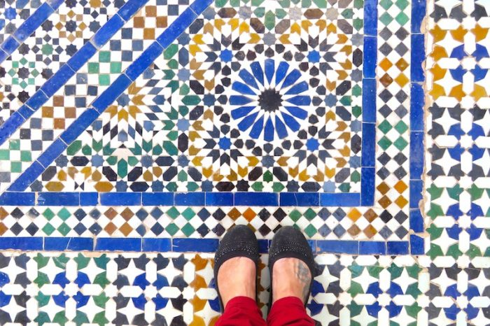 Morocco crafts tour, mosaic art architecture 2019