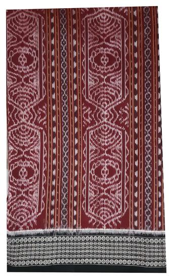 Cotton ikat sari cloth from Sambalpuri.