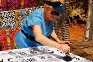 Shirley stamps traditional Adinkra Cloth