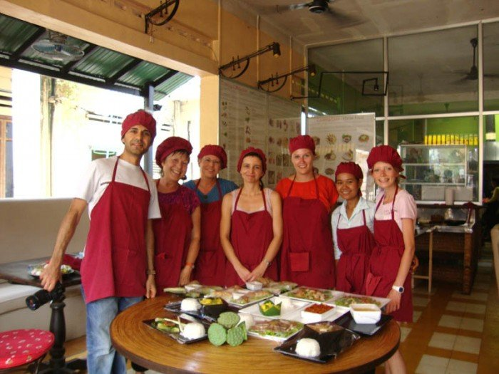 Cambodian Cooking class in Sim Reap.
