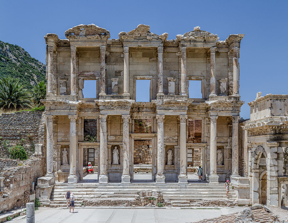 Celsus Library at the ancient Greek/Roman city of Ephesus, Turkey, UNESCO site.