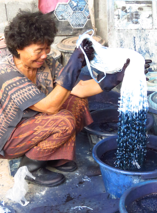 Example of cotton indigo dyeing in Thailand.