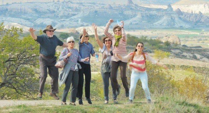Jumping in Cappadocia, by Steve Chun