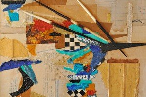 """Bamako Quills 2; Collage by Jean Haefele. Porcupine quills, MALI. 14"""" x 14""""."""