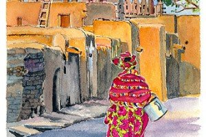 "Watercolor by Jean Haefele. 8.5"" x 11"""